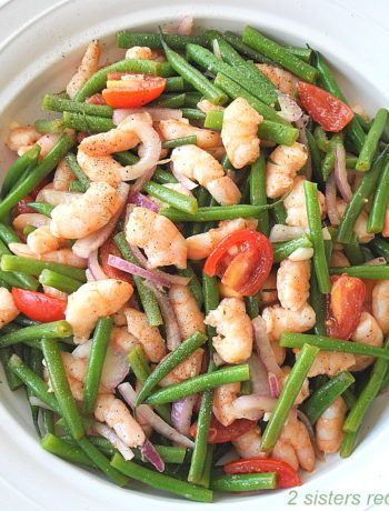 Best Shrimp Green Bean Salad by 2sistersrecipes.com