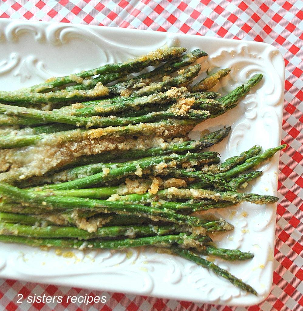 Asparagus Au Gratin Lightened! by 2sistersrecipes.com