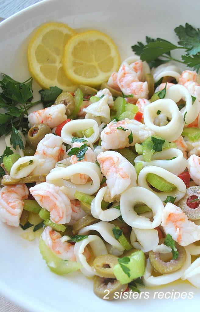 Shrimp and Calamari Salad by 2sistersrecipes.com