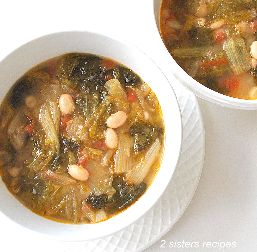 Tuscan Escarole and Beans Soup by 2sistersrecipes.com