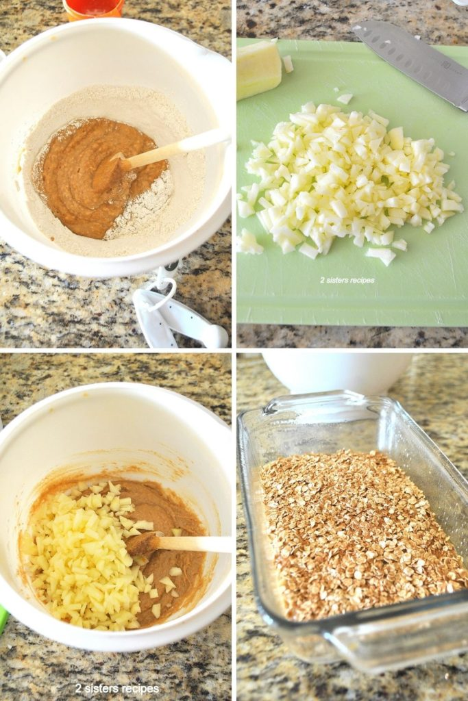 Steps of mixing the ingredients by 2sistersrecipes.com