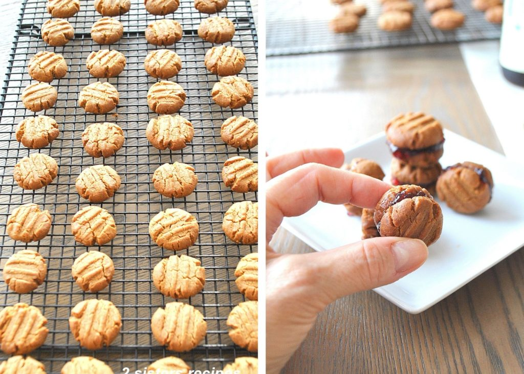 Photos of bite-size peanut butter cookies by 2sistersrecipes.com