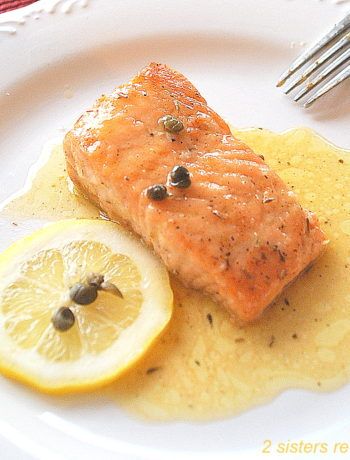 Best Salmon Piccata by 2sistersrecipes.com