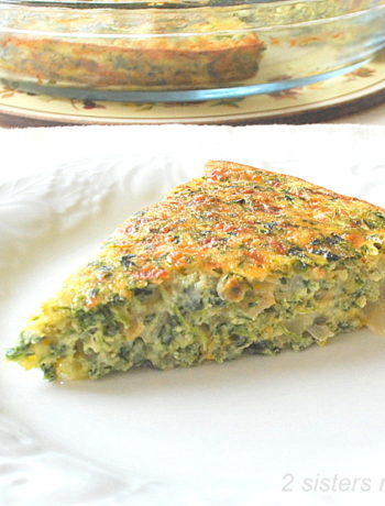 Crustless Spinach and Cheese Quiche by 2sistersrecipes.com