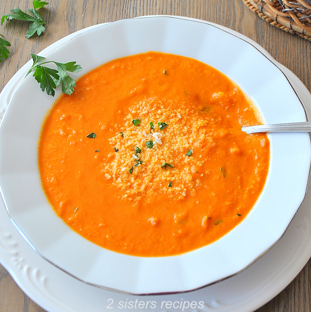 Tomato and Saffron Bisque by 2sistersrecipes.com