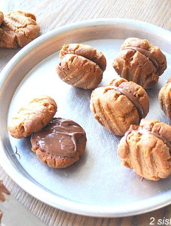 Hazelnut Peanut Butter Sandwich Cookies by 2sistersrecipes.com