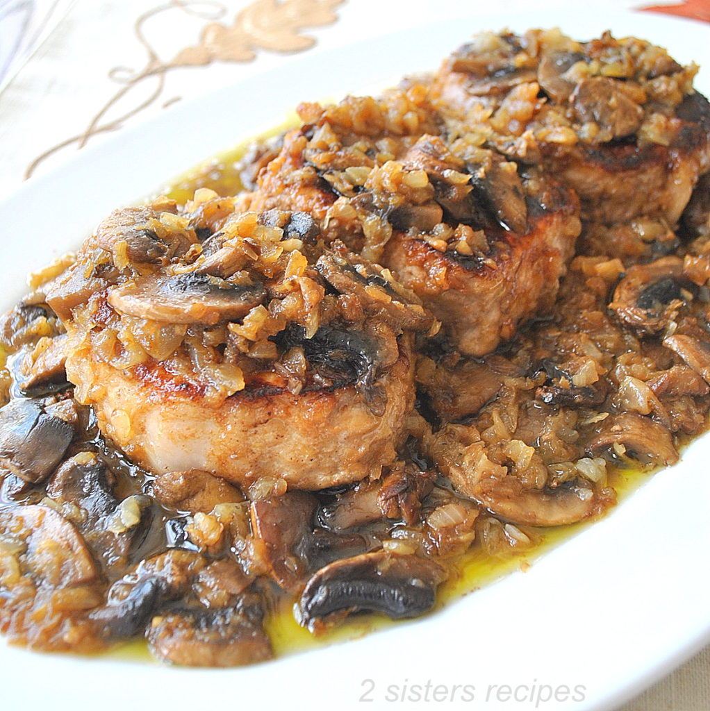 Classic Pork Chop Marsala by 2sistersrecipes.com