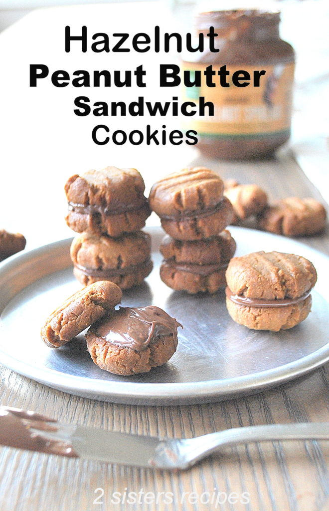 Hazelnut Peanut Butter Sandwich Cookies by 2sistersrecipes.com by 2sistersrecipes.com