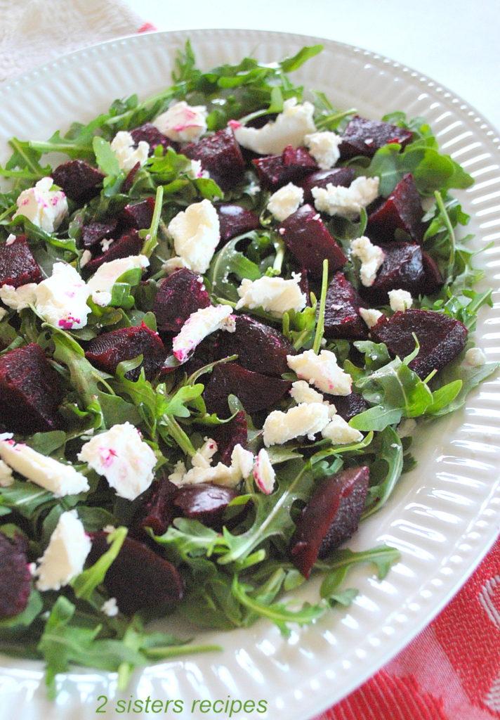 Arugula Beet and Goat Cheese Salad. by 2sistersrecipes.com