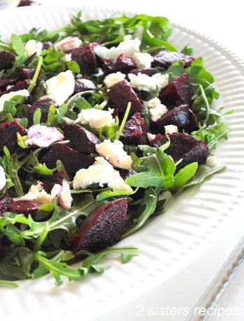Arugula Beet and Goat Cheese Salad by 2sistersrecipes.com