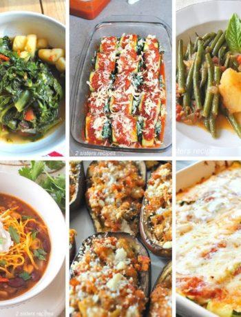 Healthy Vegetarian Recipes - Italian Inspired by 2sistersrecipes.com