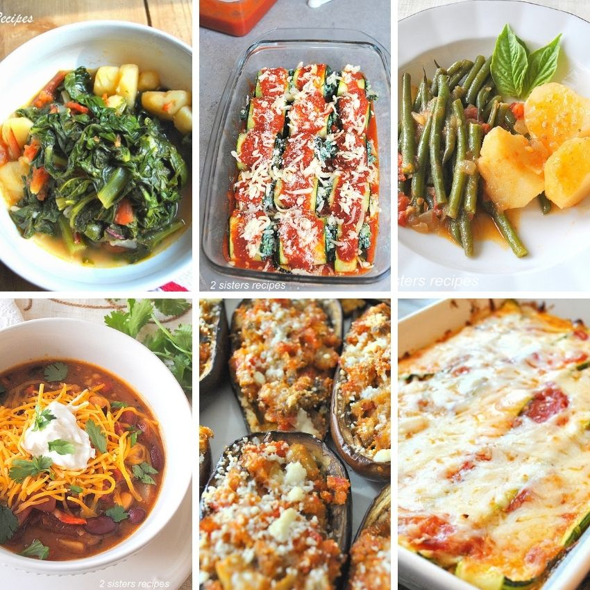 Healthy Vegetarian Recipes - Italian Inspired by 2sistersrecipes.com