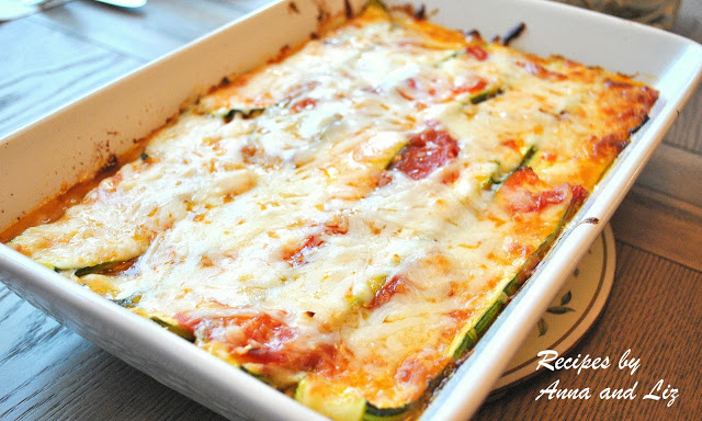 Healthy Vegetarian Recipes with a platter of our Best Zucchini Lasagna - without Noodles! by 2sistersrecipes.com