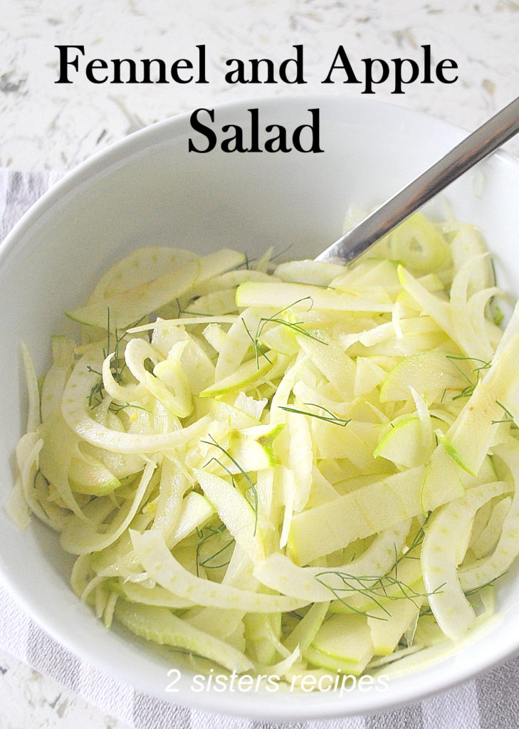 Fennel and Apple Salad by 2sistersrecipes.com