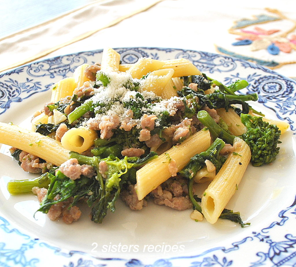 Penne with Sausage and Broccoli Rabe by 2sistersrecipes.com