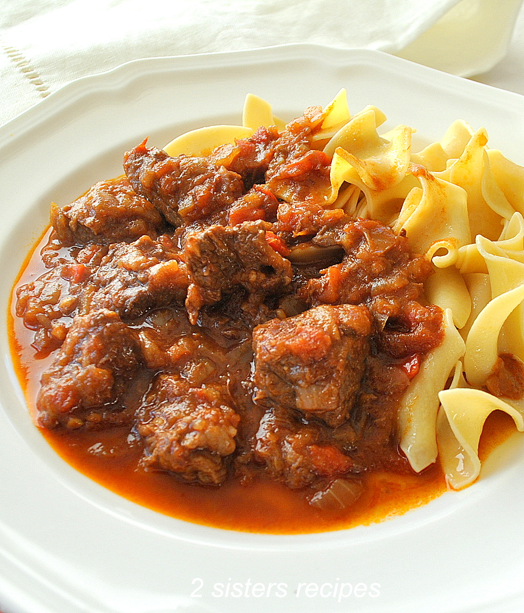Best Traditional Hungarian Goulash by 2sistersrecipes.com