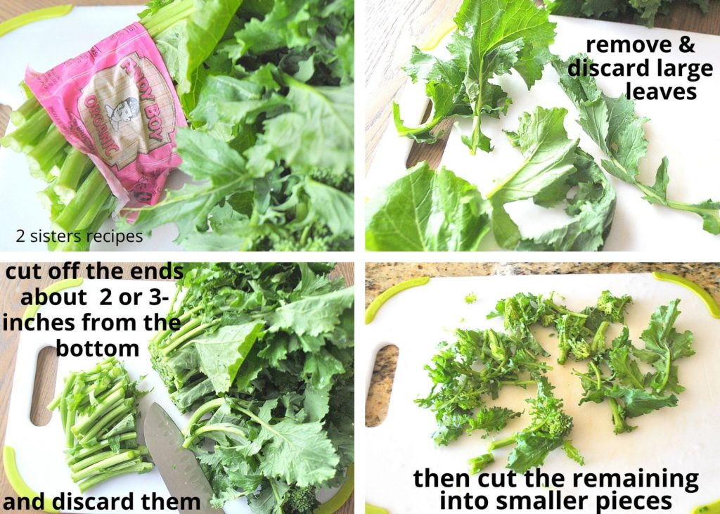 Photos on how to clean and cut broccoli by 2sistersrecipes.com