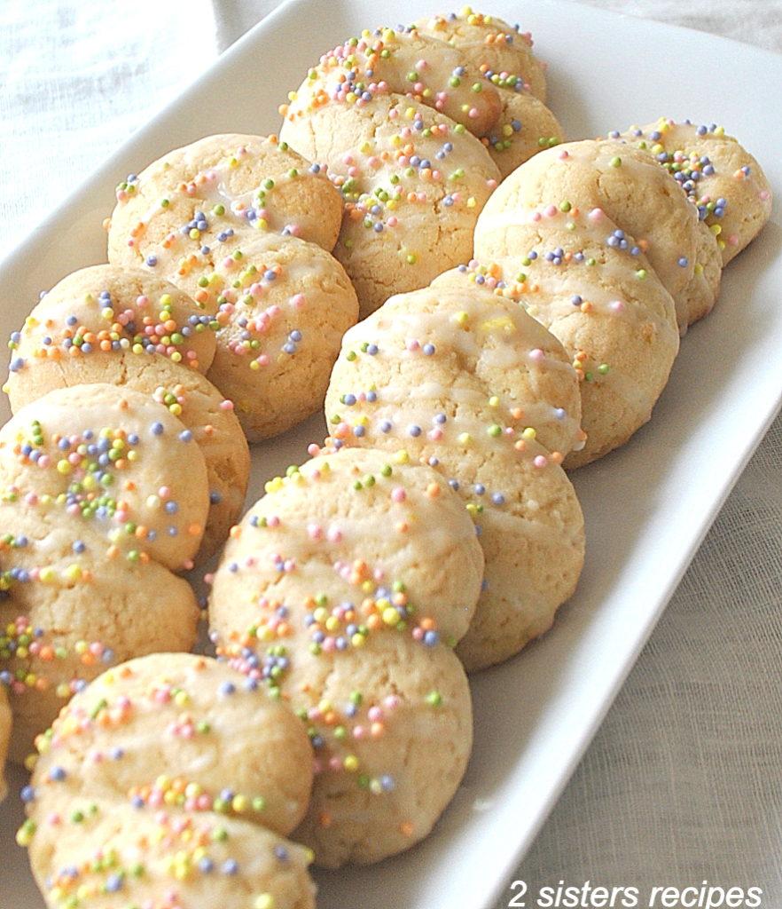 "Italian Lemon ""S"" Cookies by 2sistersrecipes.com"
