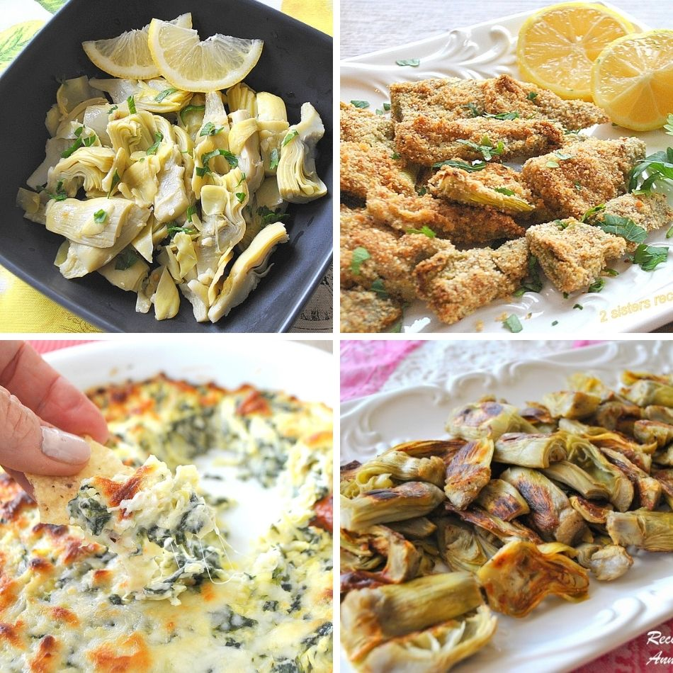 Easy Recipes for Frozen Artichoke Hearts by 2sistersrecipes.com