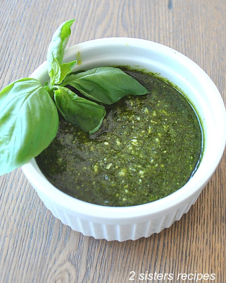 How To Make Spinach Pesto Sauce by 2sistersrecipes.com