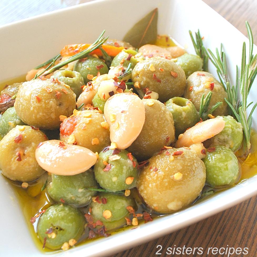 Marinated Olives Recipe by 2sistersrecipes.com