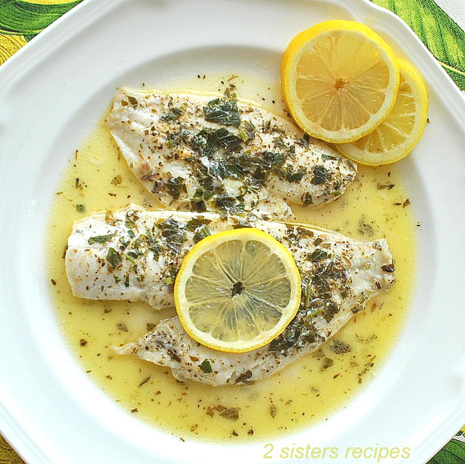 Flounder Fillets in Lemon Sauce by 2sistersrecipes.com