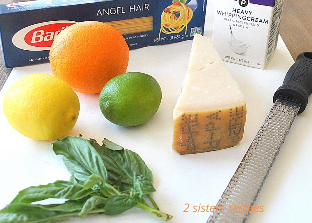 Angel Hair Pasta with Citrus Sauce by 2sistersrecipes.com