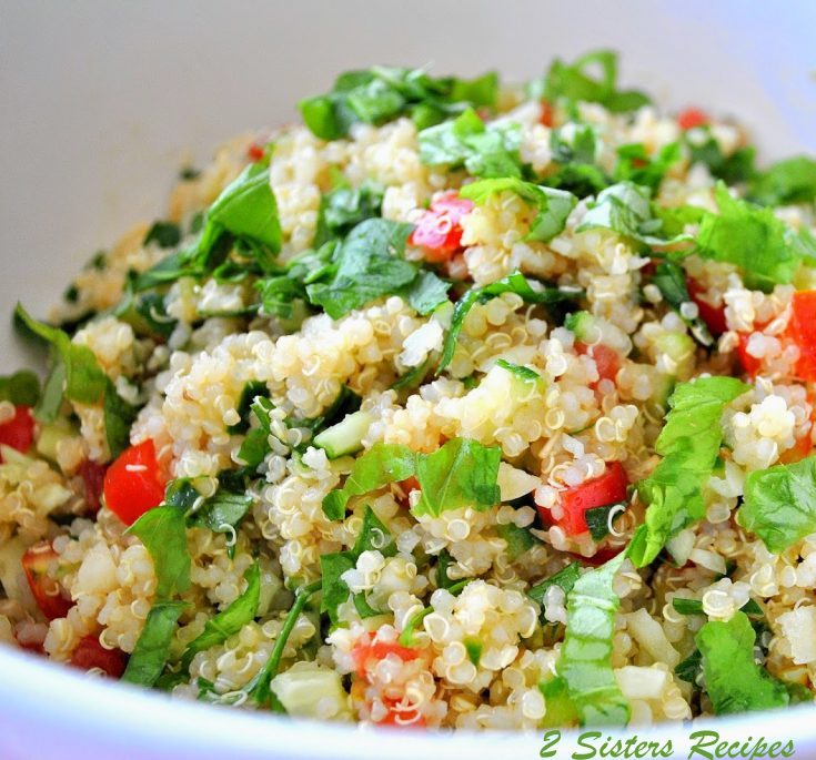 Quinoa Tabbouleh Salad by 2sistersrecipes.com