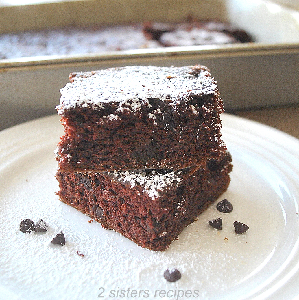 Best Chocolate Zucchini Brownies by 2sistersrecipes.com