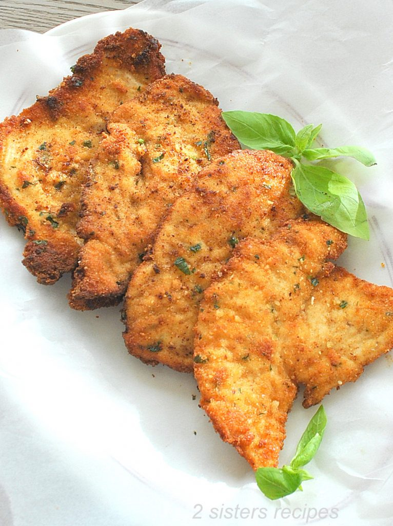 Parmesan Crusted Chicken Cutlets by 2sistersercipes.com