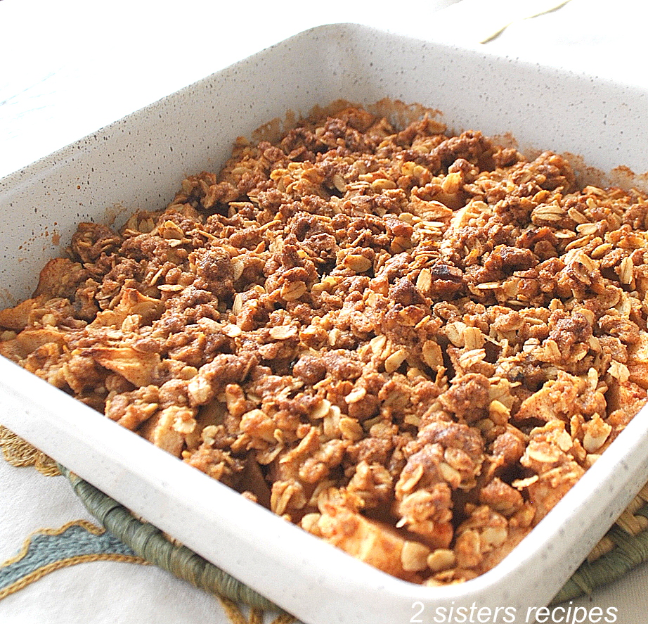 Maple Walnut Apple Crisp. by 2sistersrecipes.com
