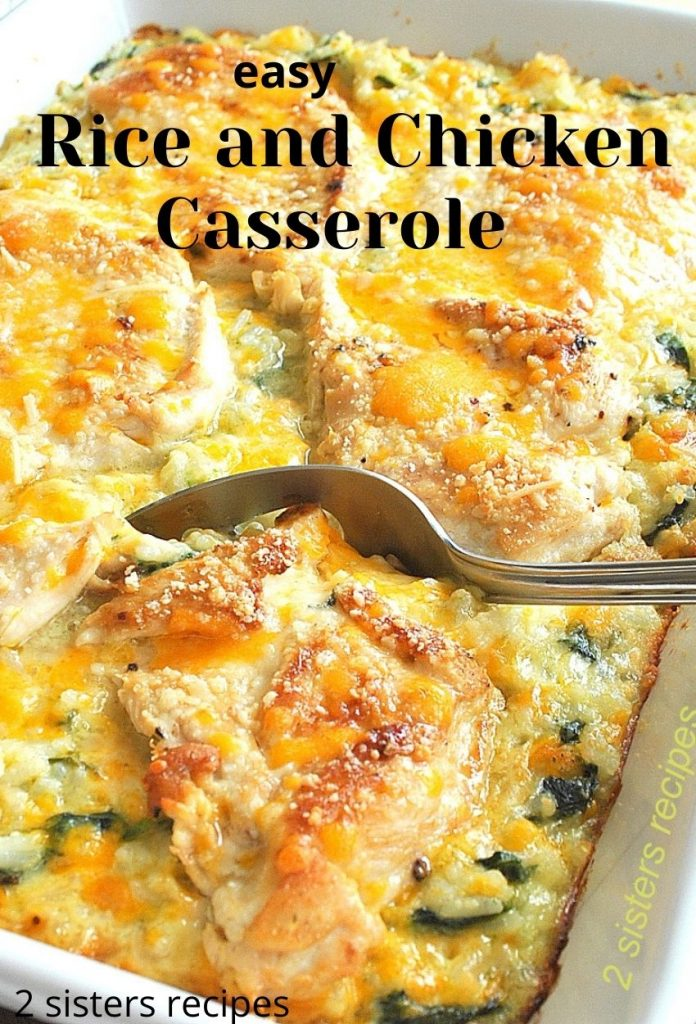 Rice and Chicken Casserole by 2sistersrecipes.com