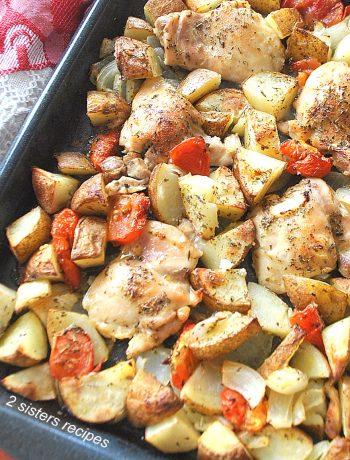 Lemon Chicken Sheet Pan Dinner by 2sistersrecipes.com